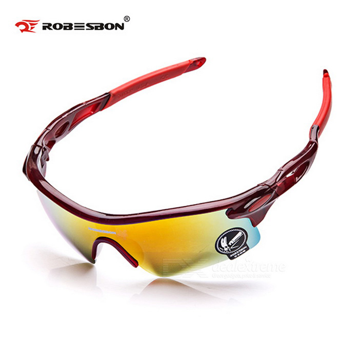 ROBESBON Authentic Super Dazzle Colour Outdoor Sports Glasses - Red