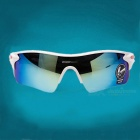ROBESBON Super Dazzle Colour Outdoor Sports Glasses - White + Blue