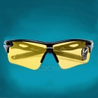 ROBESBON Super Dazzle Colour Outdoor Sports Glasses - Black + Yellow