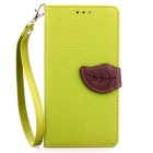 Lychee Pattern Protective PU Flip-Open Case for LG G4 - Green