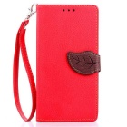 Lychee Pattern Protective PU Flip-Open Case for LG G4 - Red