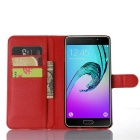 Lichee Pattern Protective Case for Samsung Galaxy A9 - Red