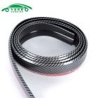 CARKING Carbon Grain Automobile Rubber Strip - Zwart + Rood
