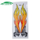 Car Auto Horse Flame Pattern Decal 2D Sticker Ornament - Yellow (2PCS)