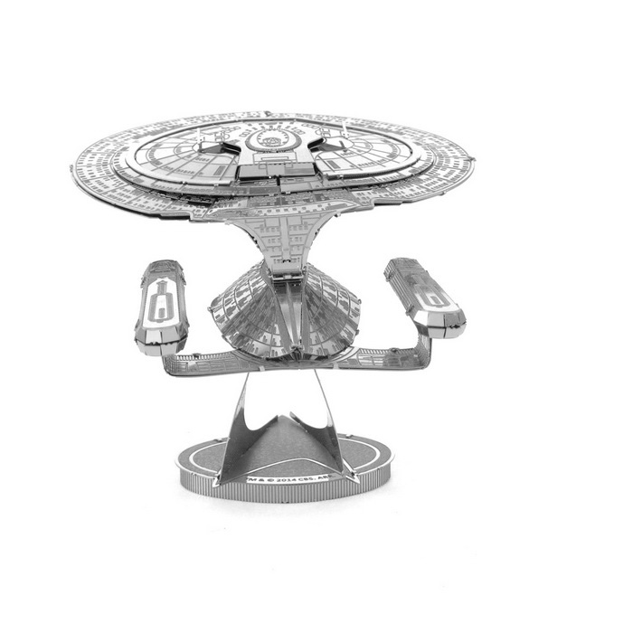 DIY 3D Puzzle Assembled Model Toy USS Enterprise - SilverBlocks &amp; Jigsaw Toys<br>Form  ColorSilverMaterialStainless steelQuantity1 DX.PCM.Model.AttributeModel.UnitNumber2Size10*6.5*7CMSuitable Age 3-4 years,5-7 years,8-11 years,12-15 years,Grown upsPacking List2 * Model  boards<br>