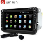 "Junsun R168-D 8"" Touch Quad-Core 1024 * 600 Player de DVD para carro - Preto"