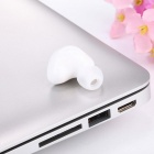 Wireless Invisible Bluetooth Mini Earphone Earbud Headset - White