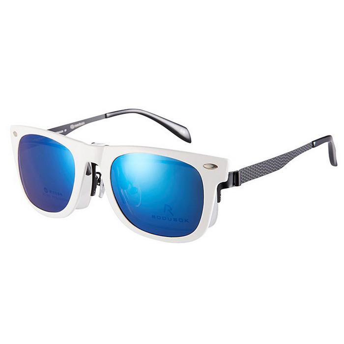 Reedoon 2140 Clip-on Protection Sunglasses - White + Blue