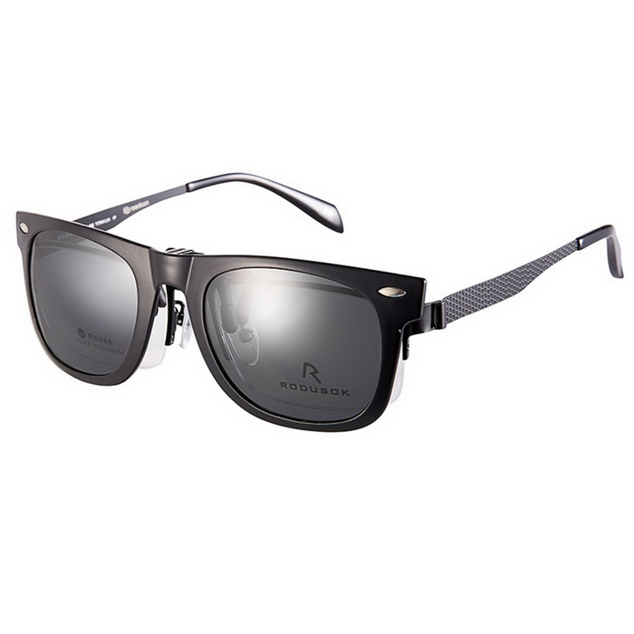 Reedoon 2140 Clip-on Protection Glasses Clip - Bright Black + Gray