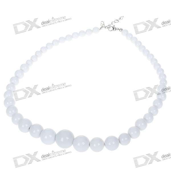 Stylish Resin Pearl Necklace - White (5-Pack) цена и фото