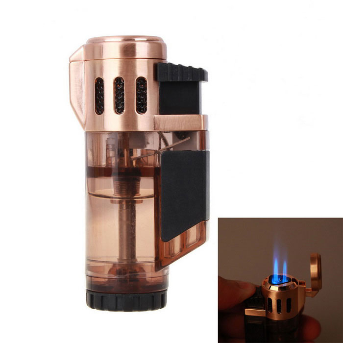 Portable Windproof Butane Gas Jet Lighter - Translucent CoffeeButane Jet Lighters<br>Form  ColorCoffeeModelN/AMaterialABSQuantity1 DX.PCM.Model.AttributeModel.UnitShade Of ColorBrownTypeGasFlame ColorBlueFlame Height2.5cmWindproofYesFuelButanePacking List1 * Lighter<br>