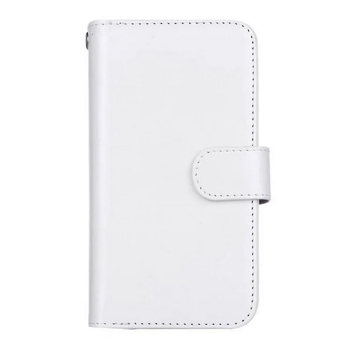 2-in-1 9 Cards Slots Leather Case for Samsung Galaxy S7 - White