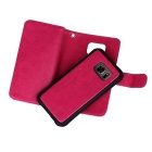 2-in-1 9 Cards Slots Leather Case for Samsung Galaxy S7 - Deep Pink