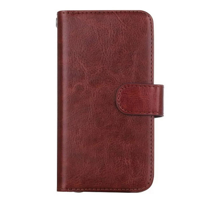 2-in-1 9 Cards Slots Leather Case for Samsung Galaxy S7 - Brown