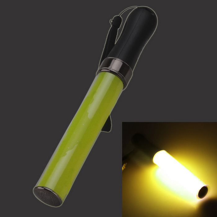 1W White Light Party Concert Glowing Lighting Stick - Black + Yellow