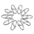 FURA Zinc Alloy Dual-Spring Carabiner Keychains - Silver (10 PCS)