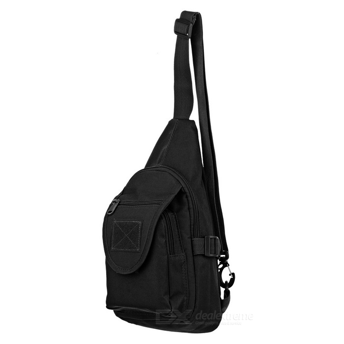 CTSmart Outdoor Oxford Fabric Casual Sling Chest Messenger Bag - Black