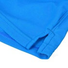 Fashion Back Zipper Pocket Design Beach Swimming Trunks - Sapphire (M)