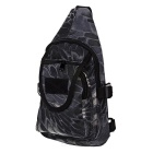 CTSmart Oxford Fabric Casual Sling Chest Messenger Bag - Python Black