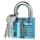 Transparent Stainless Steel Inside-View Pick Skill Training Practice Padlock Lock for Locksmith