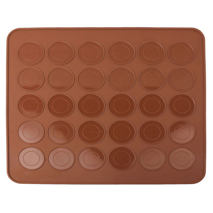30 Hole Macaron Silicone Pad Baking Cookies Tool (L)