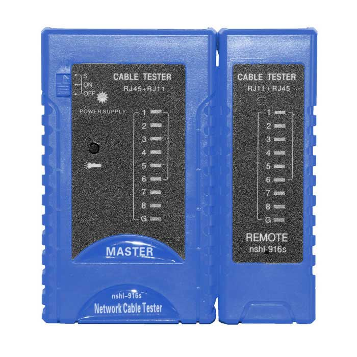 Network LAN Cable Tester RJ45&RJ11 Cable Tester - Blue