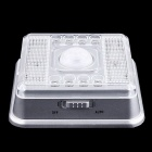 2W 1400-MCD Neutral White 8-LED Auto PIR Sensor Lamp - White (2*AA)
