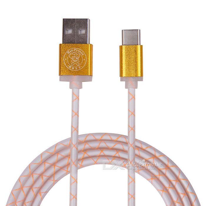Hat-Prince USB 3.1 Type-C / Micro USB to USB Data Cable - Gold (103cm)