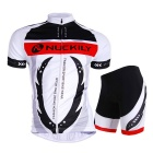Outdoor Cycling Men's Polyester Wearing Suit - White (L)