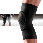 Lycra Fabric Outdoor Sports Anti-collision Kneepad - Black (Size L)