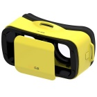 LEJI Mini Virtual Reality 3D Google Cardboard Glasses - Yellow