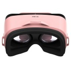 LEJI Mini Virtual Reality 3D Google Cardboard Glasses - Pink