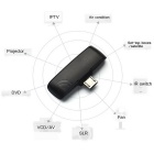 Universal Wireless Infrared Remote Control Adapter - Black