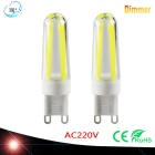 JRLED G9 Dimmable 5W 450lm COB LED Cool White Light Ceramic Bulbs