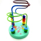 Fancy Calculate Wooden Round Bead Toy - Green + Multicolor