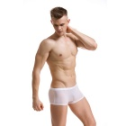Men's Slim Icy Silk Underwear Pants - Translucent White (XL)
