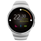 KW18 Full Circular Screen Heart Rate Smart Watch - White