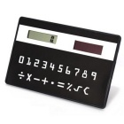 Portable Stationery Ultrathin Solar Mini Card Calculator - Black