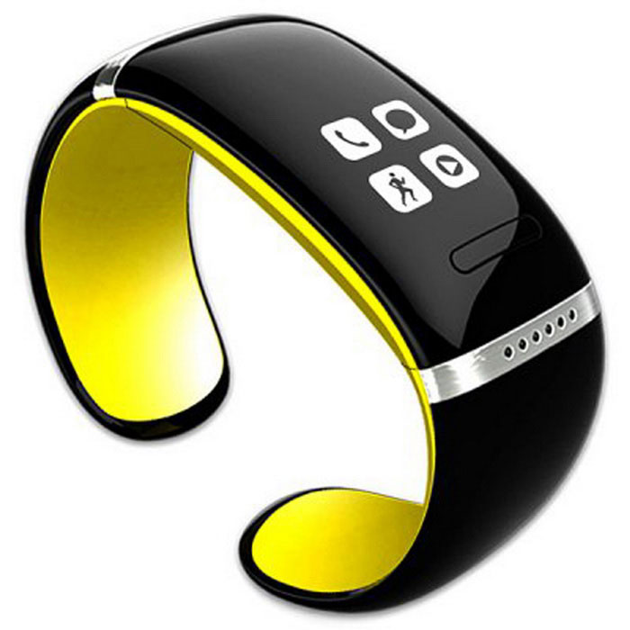 KICCY Trendy L12S OLED Bluetooth Bracelet Watch - YellowSmart Bracelets<br>Form  ColorYellowModelL12SQuantity1 DX.PCM.Model.AttributeModel.UnitMaterialABSShade Of ColorYellowWater-proofNoBluetooth VersionBluetooth V3.0Touch Screen TypeOthers,OLEDOperating SystemNoCompatible OSAndroid, iosBattery Capacity250 DX.PCM.Model.AttributeModel.UnitBattery TypeLi-ion batteryStandby Time168 DX.PCM.Model.AttributeModel.UnitOther FeaturesDownload the app:  <br>http://pan.baidu.com/s/1pJmEB71  <br>http://pan.baidu.com/s/1o6Noy74Packing List1 * Smart bracelet 1 * Base 1 * USB charging cable (100cm)1 * Chinese / English user manual<br>