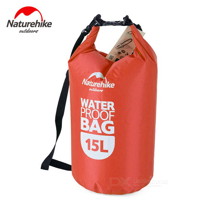 NatureHike Multi-Functional Drifting Waterproof Bag - Red (15L)Form  ColorRedQuantity1 DX.PCM.Model.AttributeModel.UnitMaterial80% polyester + 20% PVCGenderUnisexPacking List1 * Waterproof bag<br>