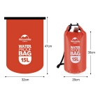 NatureHike Multi-Functional Drifting Waterproof Bag - Red (15L)