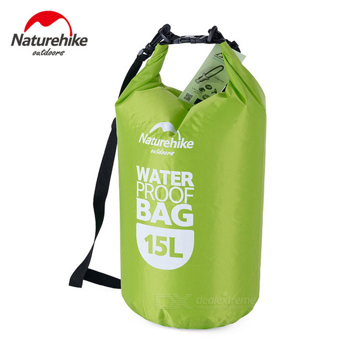 NatureHike Multi-Functional Drifting Waterproof Bag - Green (15L)Boating &amp; Diving<br>Form ColorGreenQuantity1 DX.PCM.Model.AttributeModel.UnitMaterial80% polyester + 20% PVCGenderUnisexPacking List1 * Waterproof bag<br>