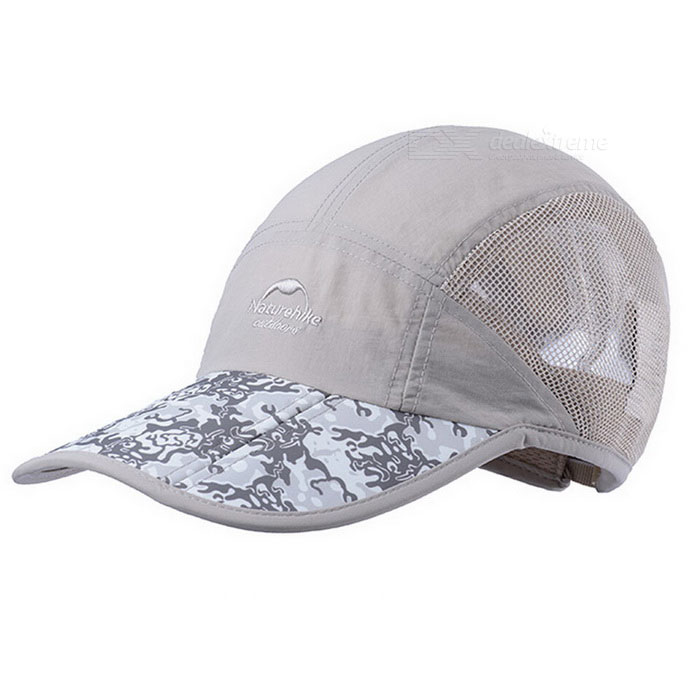NatureHike Men's Foldable Sun-proof Baseball Cap - Khaki Camouflage