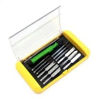 14-in-1 Precision Screws Removed Maintenance Tool Kit - Green + Silver
