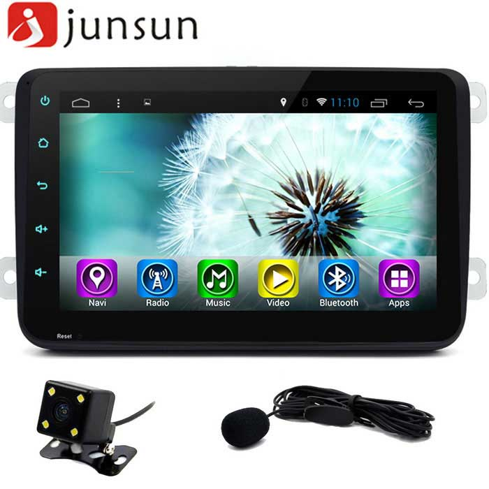 "Junsun 8 ""Full toque carro DVD Player - Preto"