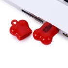 Mini Bone Style Micro SD Card Reader for Computer - Red