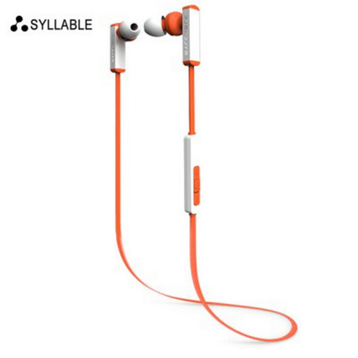 Syllable D300 Bluetooth In-ear Sport Earphone w/ Mic - Orange