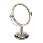OVal Shaped Double-Sided Mirror - Silver + Champagne