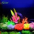 Saim E4AB-219 Aquarium Decoration Simulation Coral - Orange (14.5cm)