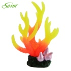Saim E4AB-219 Aquarium Decoration Simulation Coral - Yellow + Orange